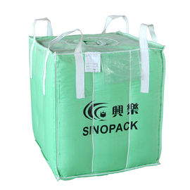 Flexible intermediate bulk container 1.5 ton big baffle bag for soybeans / seeds